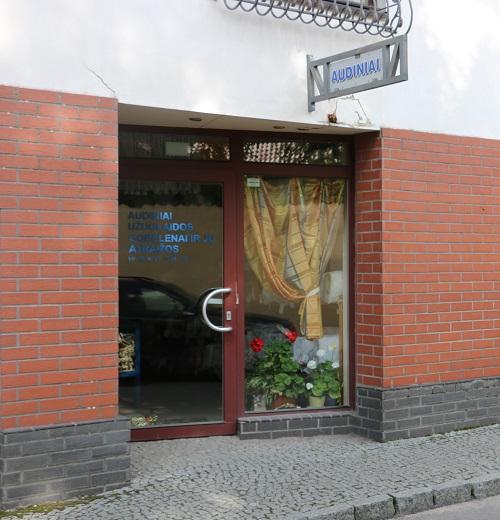 Audinių parduotuvė Klaipėdoje